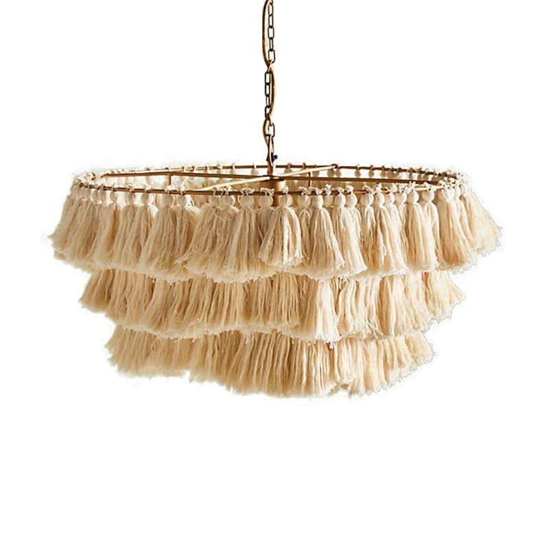 Modern decorative chandelier Cotton ...