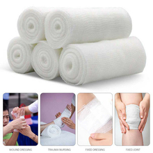 5 Rolls Knee Roll First Aid Non Toxic Pain Relief Elastic Durable Health Care Mesh Disposable Injury Protective Gauze Bandage