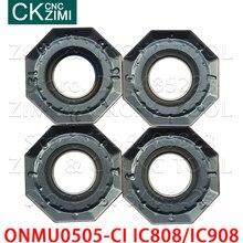 Onmu ic908 ONMU0505-CI ic808 ic908 16-edge cnc fresa inserção de carboneto de alta qualidade ferramenta de corte pesado cortador de torno
