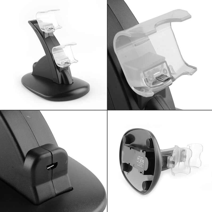 JRGK OIVO شحن USB مزدوج اللاسلكية محطة الإرساء شاحن حوض مهد حامل ل بلاي ستيشن 4 PS4 PC غمبد تحكم