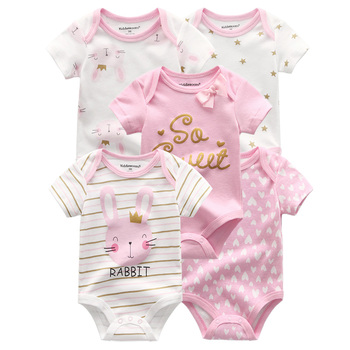 5 Pcs Jumpsuit Bayi Rompers 100% Cotton 6