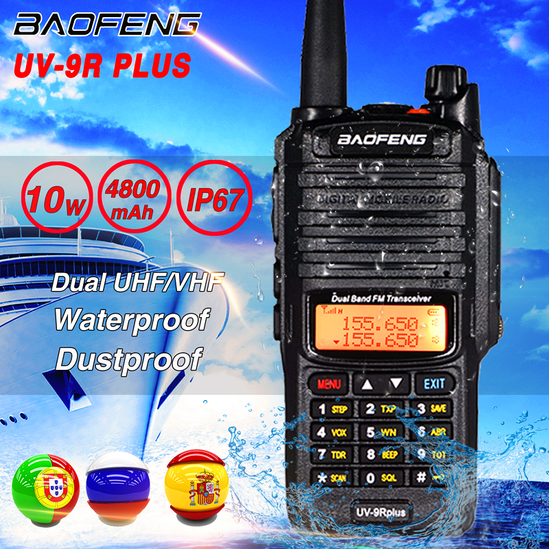 2020 10W High Power Baofeng UV-9R Plus Walkie Talkie Waterproof Dual Band UHF VHF Hunting CB Ham Radio UV 9R Plus Two Way Radio