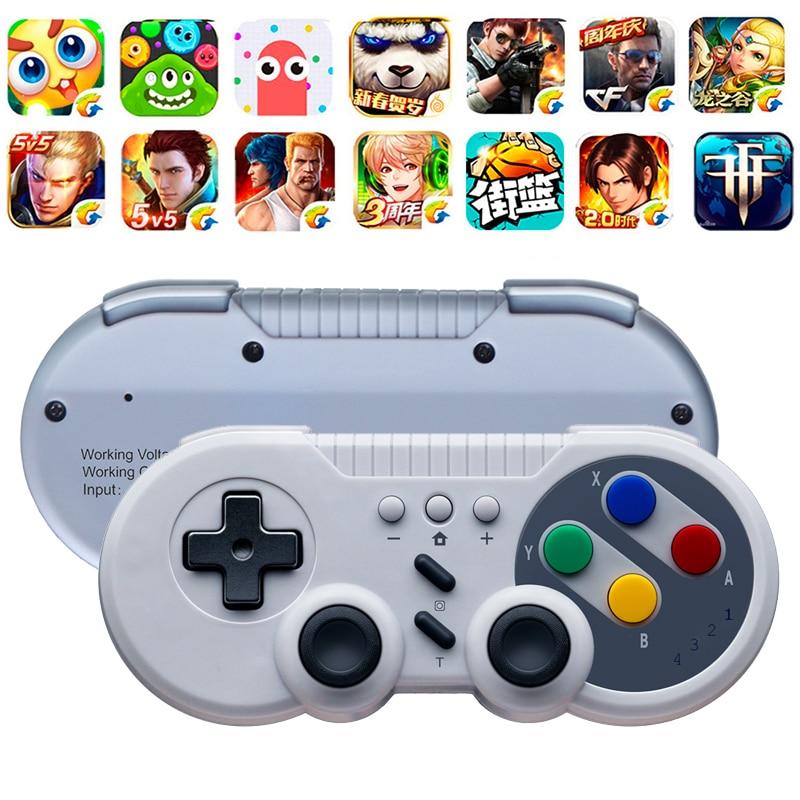 Беспроводной Bluetooth геймпад в стиле ретро, 500 мАч, джойстик, контроллер без корня с кнопкой D-pad для Nintendo Switch Pro, Windows, MAC