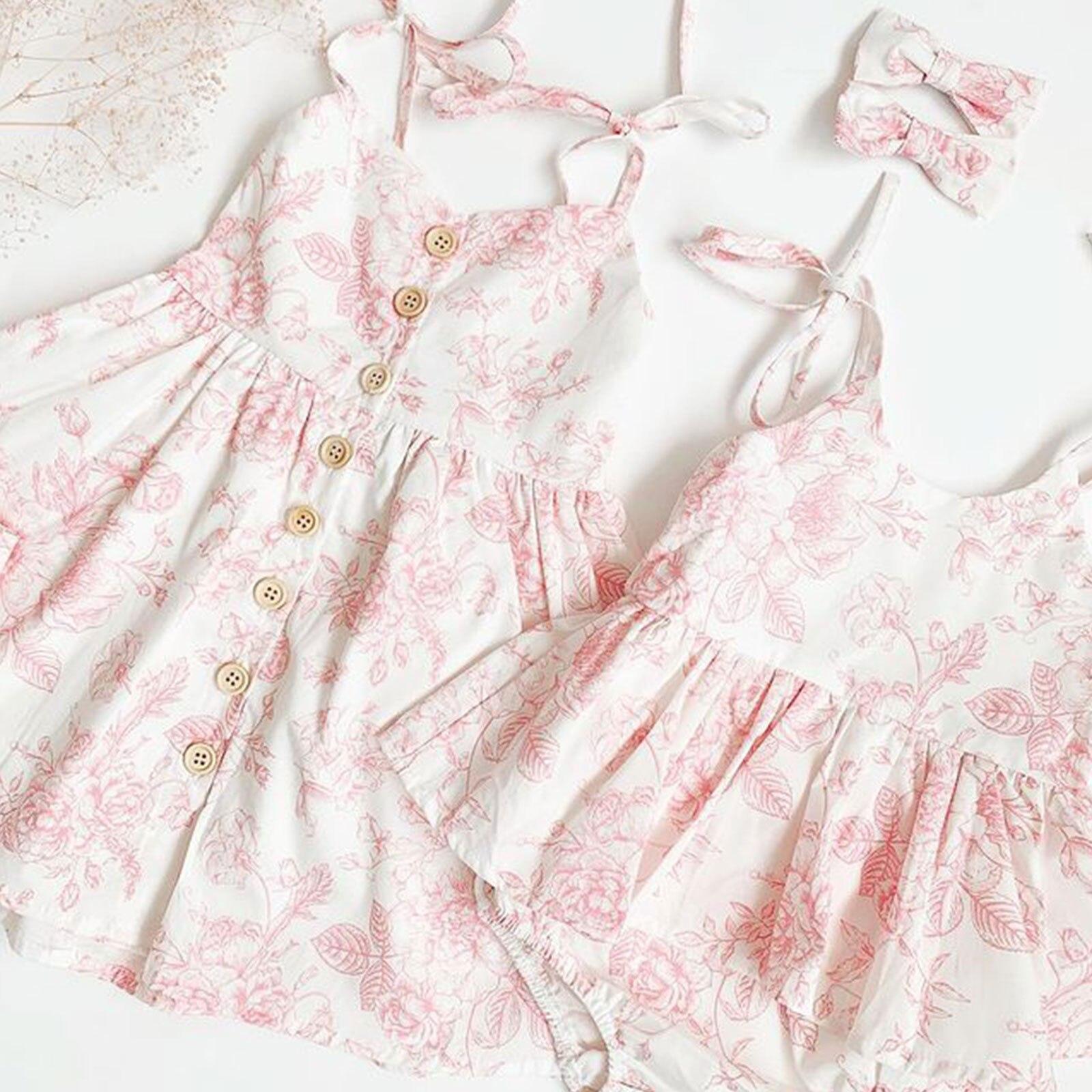 Женское боди с цветочным принтом, комбинезоны без рукавов на бретельках, повязка на голову, комплект из 2 предметов, одежда для девочек, лето ...