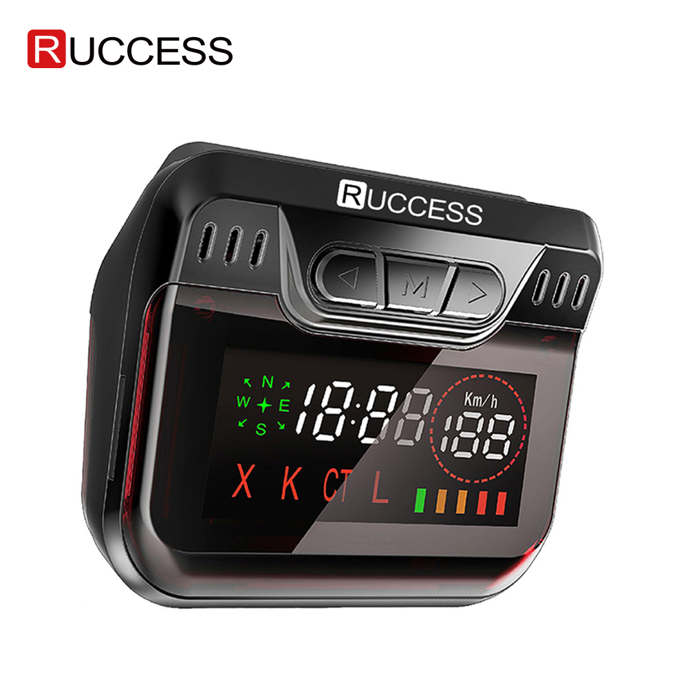 New Ruccess Police Radar Detector for Russia GPS Speed Laser band Car Detector 2 in 1 GPS Anti Radar for Car Auto 360 X LA CT L(China)