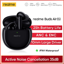 realme Buds Air Pro ANC ENC Active Noise Cancellation Bluetooth 5.0 headset 10mm Bass Boost Driver Headphones Wireless Earphone