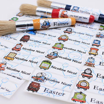 Cute Robot Boy Name Stickers Waterproof Personal Tags Customize Labels For Children Daycare Scrapbooking School Stationery 25 2pcs cartoon name sticker waterproof animal decals kawaii flamingo tags multicolour flower fruit labels for children stickers
