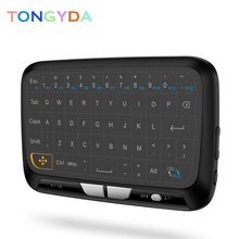 H18 English Mini Keyboard 2.4GHz Backlit Wireless Air Mouse Remote Control with Touchpad Mini Keyboard For Android TV Box X96 q9 mini keyboard 2 4ghz wireless keyboard with touchpad air mouse remote control for android tv box t9 x96 mini max aaa battery