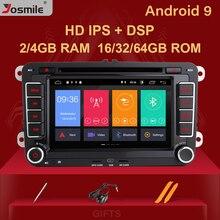 4GB 2 Din Android 9 Autoradio Multimedia para Amarok Volksagen VW Passat B6 golf 56 Skoda Octavia 2 superb 2 asiento Leon de navegación