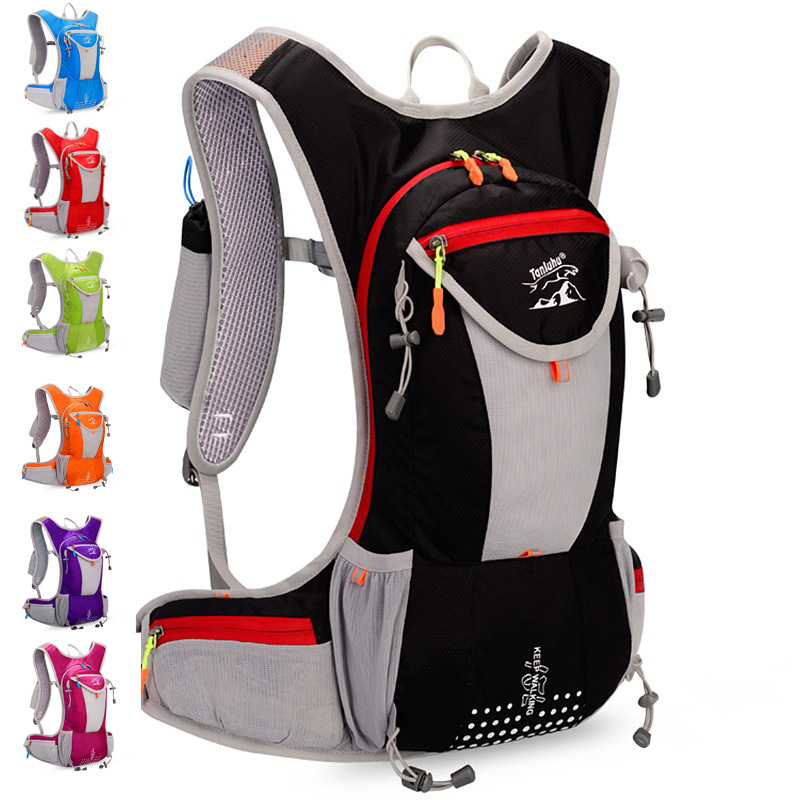 15L Men Women Outdoor Running Backpack Sports Hydration Bag Camping Hiking Portable Riding Cycling Bags Breathable Rucksack