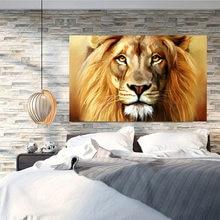 Grande leão animais rosto quadros da lona arte da parede posters e impressões animais leões imagens para sala de estar