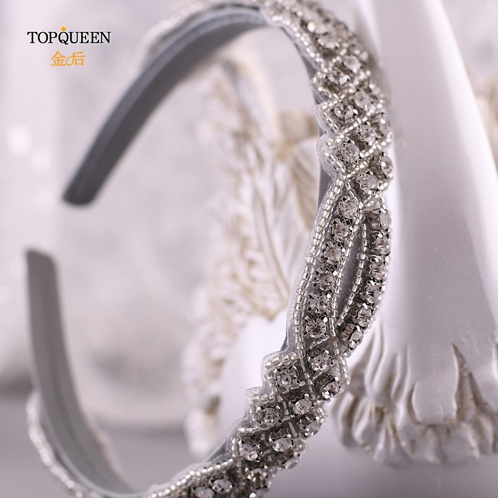 TOPQUEEN S332-FG Wedding Rhinestone Hair Accessories Bridal Tiara Headpieces  Rhinestone Headband Baroque Hair Band