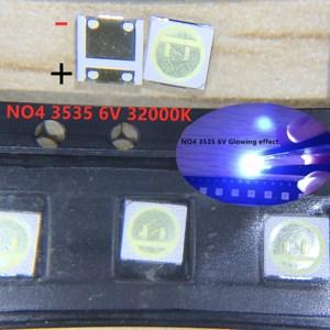 Image 2 - 2000pcs Per Seoul 3535 LED 2W 6V 3535 Freddo bianco LCD Retroilluminato Ad Alta Potenza Retroilluminazione A LED per TV TV Applicazione SBWVL2S0E