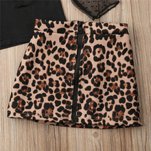 Kids Baby Girl Clothes Set T-shirt Leopard Print Outfit