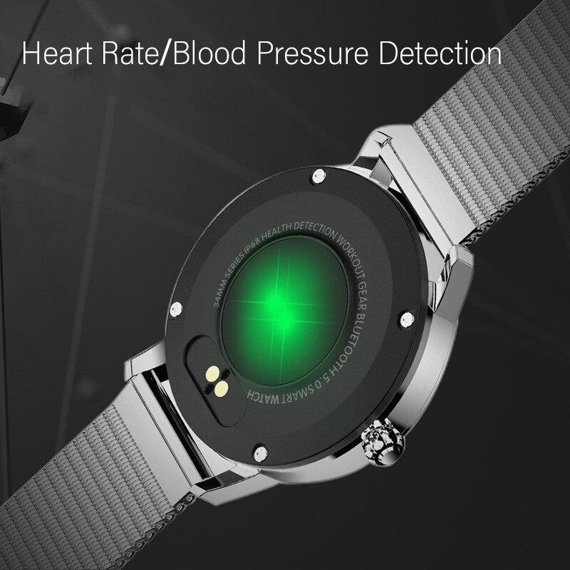 Relógio inteligente redondo bt emparelhamento pulseira inteligente