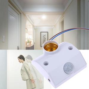 E27 PIR Infrared Motion Sensor LED Light Lamp Holder LED Lamp Base PIR Motion Sensor Switch Light Lamp Holder Switch New(China)