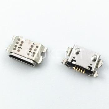 100pcs Micro USB 5Pin Jack Connector socket Data charging port tail plug For Samsung Galaxy A01 A015 A015F/DS Mini USB Jack