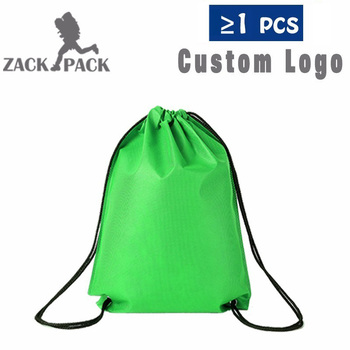 Bags Custom Logo String Bag Promotional Sports Printed Backpack  1