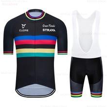 Cycling Jersey 2021 Pro Team Strava Cycling Clothing Summer MTB Cycling Shirts Men Bike Jersey Triathlon Ropa Ciclismo Hombre