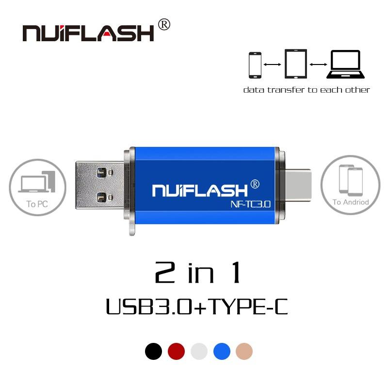 High Speed Type C USB 3.0 Flash Drives Pendrive Usb Key 64GB 32GB 16GB 128GB Pen Driver Personalized Clef USB Flash Jump Drives
