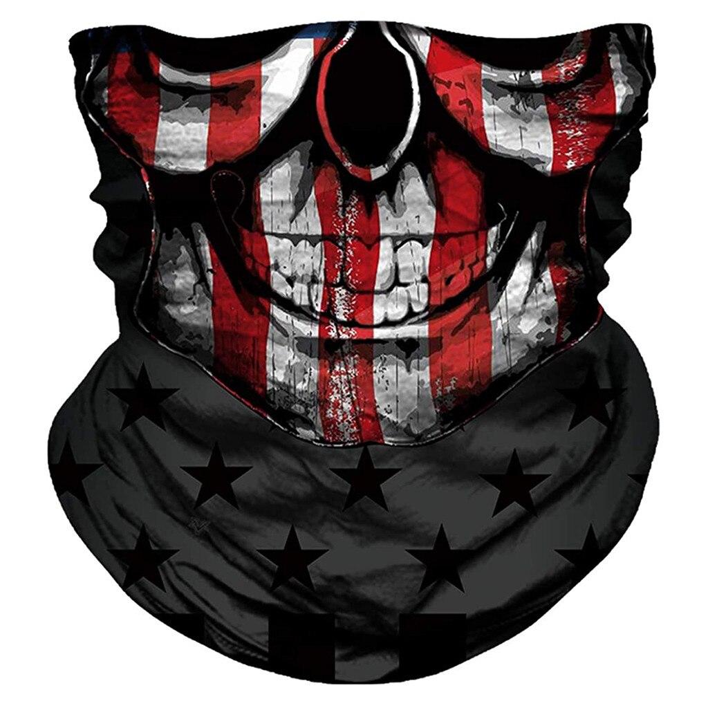 Unisex Rave Bandana Neck Gaiter Tube Headwear For Women Men Face Scarf