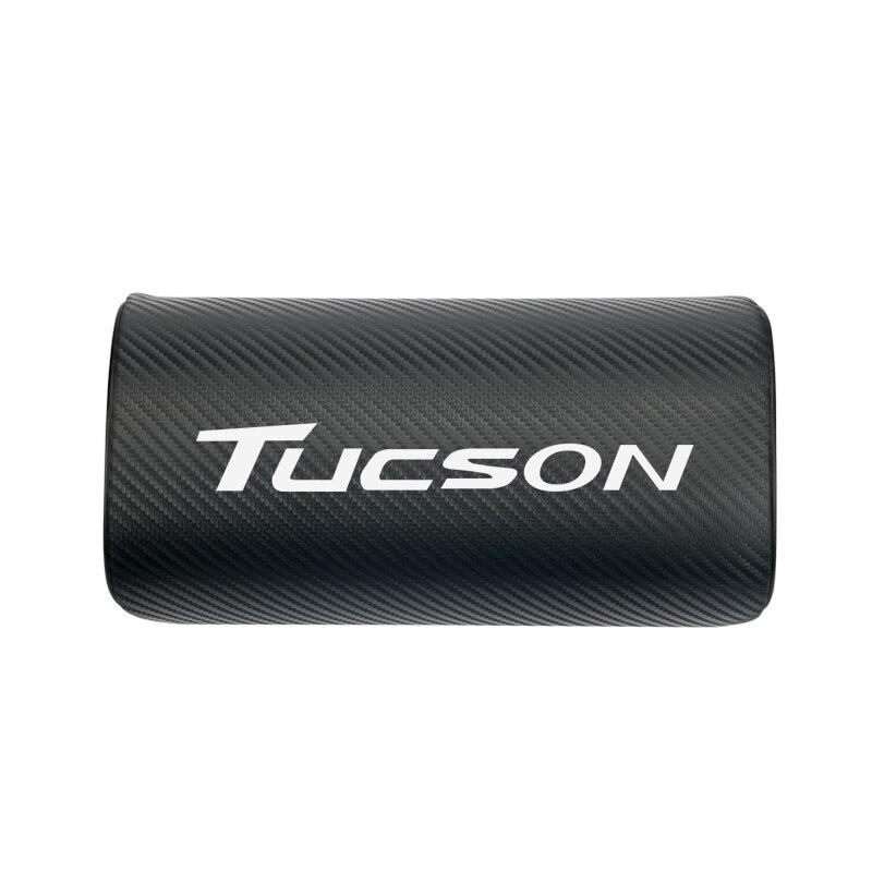 Diseño de coche para Hyundai tufson 2017 2018 almohadas de cuello de coche ambos lados pu cuero solo reposacabezas 1 Uds 8 unids/set ABS cubierta cromada de manija de puerta Trim etiqueta para Hyundai Tucson IX 35 Ix35 2010, 20112012, 2013, 2014 accesorios de estilo de coche