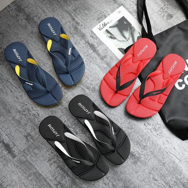 Hot Fashion Blue Massage Slippers Men Flip Flops Big Size 46 Casual Slides Men Non Slip Beach Indoor Slippers Men сланцы мужские 2