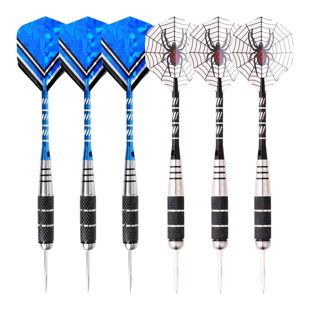 6Pcs Steel Tip <font><b>Darts</b></font> <font><b>Tungsten</b></font> Barrel Aluminium Shafts Professional <font><b>Dart</b></font> Set for Electronic Dartboard image