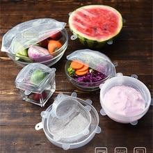 Tapa Para comida De Silicona reutilizable, Tapas elásticas universales Para utensilios De cocina, Bol, olla, 6 uds.