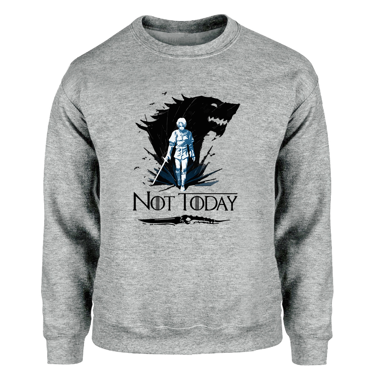 Game Of Thrones Hoodies Men Ayra Sweatshirts Wolf House Stark Game Over Crewneck Not Today Streetwear The Night King Hoodie Mens