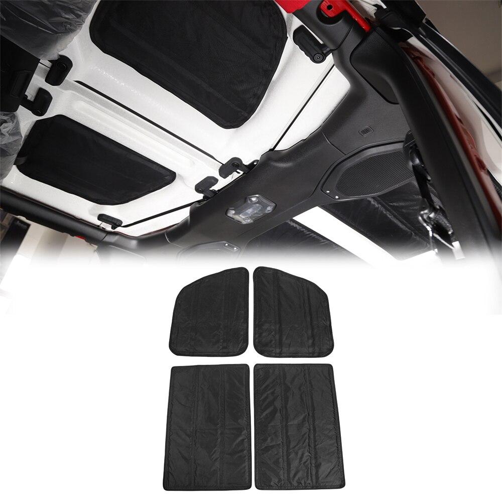 2 portes/4 portes voiture toit chaleur isolation phonique coton Kit pour Jeep Wrangler JL 2018 Oxford tissu perle coton accessoires d'intérieur