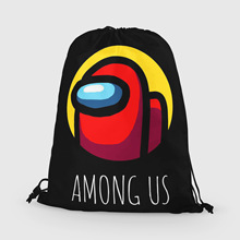Bag Kids Backpack Drawstring-Bag Game-Among Travel Cartoon Us for Boys Gifts 1pc New-Arrival