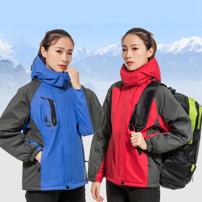 Men Women Winter Heated Hiking Jacket Thick Hooded Breathable Waterproof Climbing Coat Polar Fleece Ski Jacket  Rain Jacket3