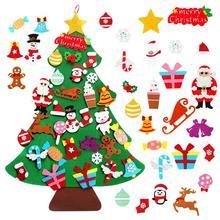 DIY войлочная Рождественская елка Счастливого Рождества Декор для дома 2020 Рождественская елка орнамент Санта Клаус детская Рождественская ...