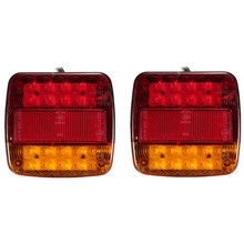1pair Universal LED Super Bright Car Trailer Truck Taillights Brake Stop Turn Signal AS+ABS Tail Light 12V Shock Resistant