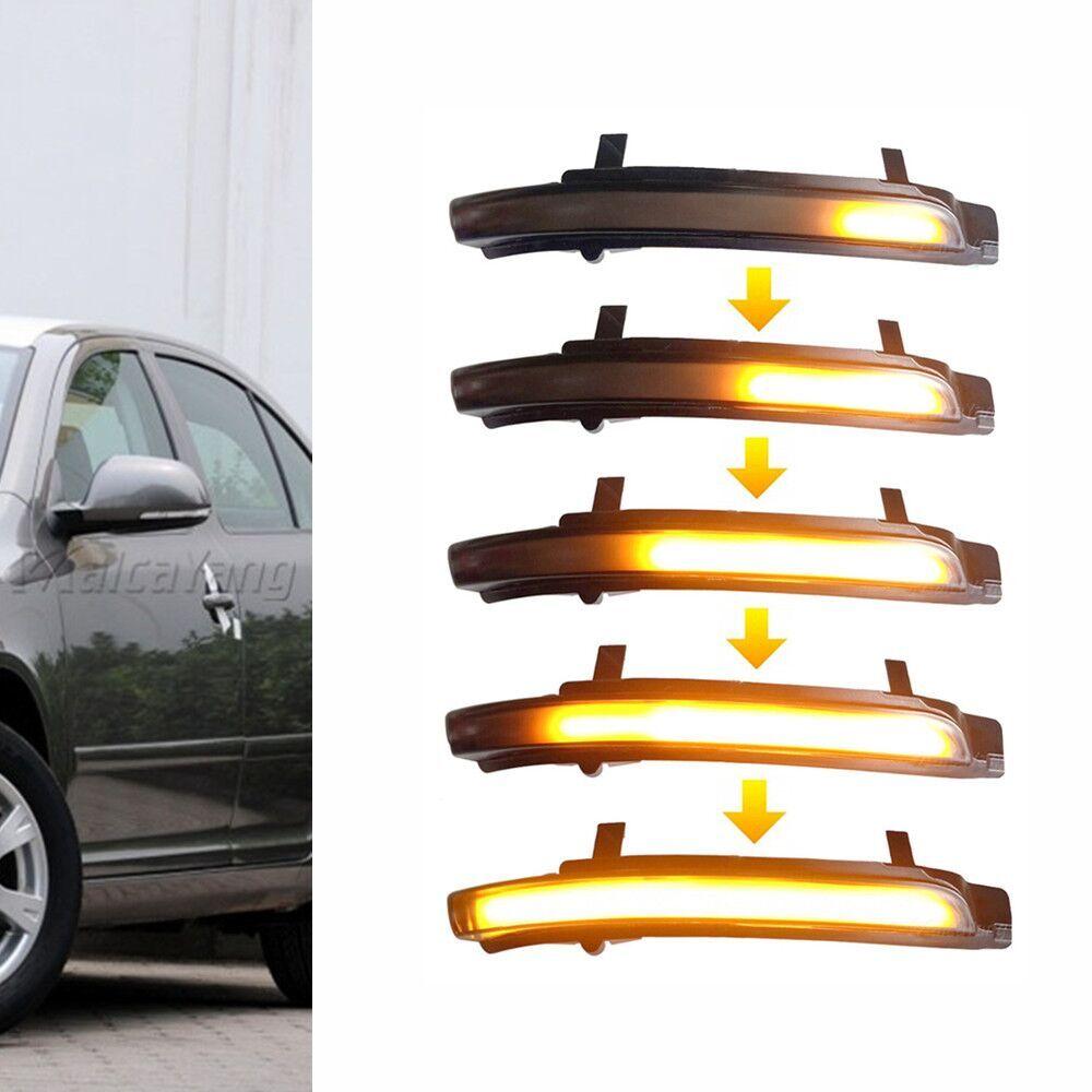 Светодиодный светильник с динамическим поворотом, индикатор бокового зеркала, мигалка, последовательная лампа для Skoda Octavia MK2 1Z 09 13 Superb B6 3T 08 14|Сигнальная лампа|   | АлиЭкспресс