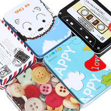 Metal Box Case Home Supplies Mini Cute Cartoon Tin For Jewel