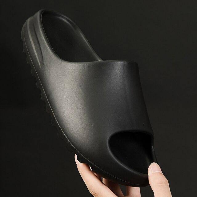 WEH Summer Slippers Men Women Indoor Eva 2021 Cool Soft Bottom Sandals Trend Slides Light Beach Shoes Slippers Home big size 46 3