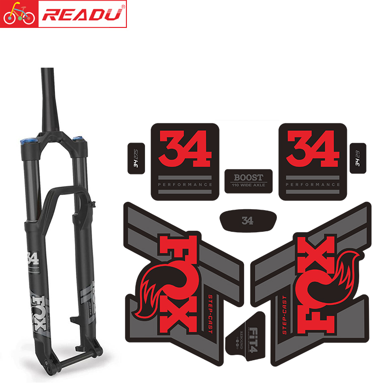 2020 Fox34 PERFORMANCE Fork Sticker Fox Float 34 Mtb Bike Fork Decal Fox Bicycle Stickers