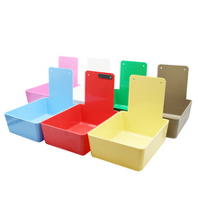 Dental Lab Equipment Dental Work Pans with Clip Holder Tooth Plastic Dental Neaten Case Colorful