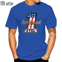 OFFICIAL Evel Knievel Stars & Stripes Stunt Rider Men's T-Shirt Motorcycle Biker Cotton Plus Size Clothing Tee Shirt