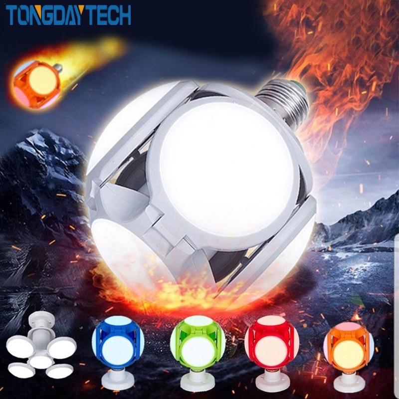 TONGDAYTECH 120LED Super Bright LED Folding Lamp Indoor Lights 40W E27 LED Light Football UFO Lamp AC 85-265V LED Bulb
