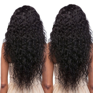 Image 2 - Shireen Brazilian Hair Water wave Bundles With Lace Closure Non Remy 4 Bundles Deals Human Hair Bundles With 4*4 Lace Closure