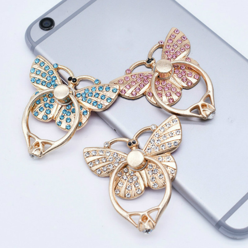 Butterfly Universal Finger Ring Mobile Phone Smartphone Stand Holder For IPhone Xiaomi Samsung Smart Phone Stand Phone Holders