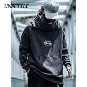 Image 4 - Unsettle Vis Mond Japanse Harajuku Borduurwerk Tactiek Streetwear Hoodies Hip Hop Mannen Trui Hoodie Casual Sweatshirts Tops