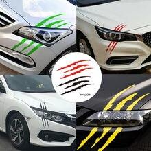 Adhesivo de vinilo de decoración para coche, accesorio divertido con diseño de rayas para decoración de automóviles