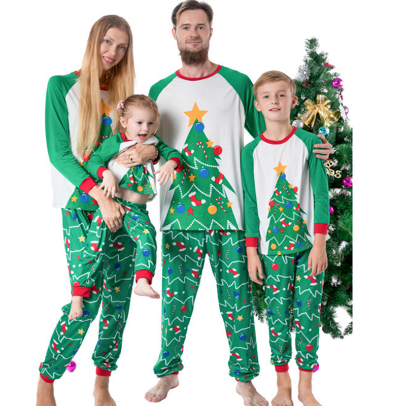 Matching Family Christmas Pajamas Set Xmas Family Outfit Adult Kids Pajamas Baby Romper New Year 2019 Family Christmas Clothes