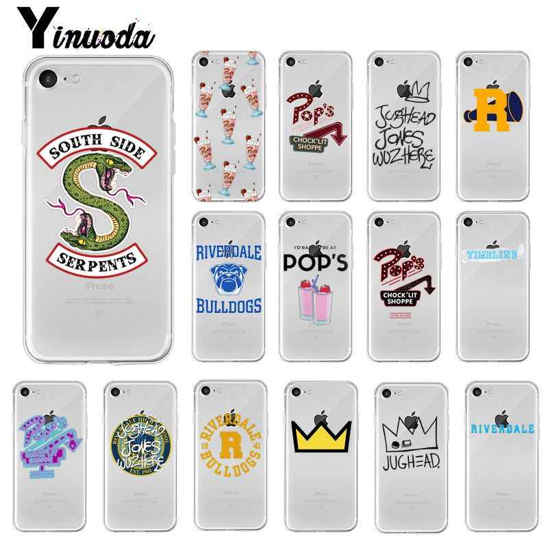 Yinuoda Riverdale ทีวี South Side งู Coque โทรศัพท์ Shell สำหรับ iPhone 5 5Sx 6 7 7plus 8 8Plus X XS MAX XR Fundas Capa