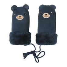 Детские перчатки Зимние перчатки детские теплые вельветовые уплотненные Женские варежки Зимние перчатки варежки для детей