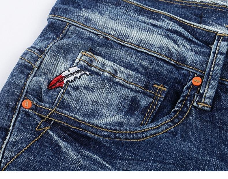 Jeans Men Light Blue Stretch Slim Straight Regular Fit Casual Jeans Male Denim Pants Male Long Trousers Top Quality Plus Size 40 15
